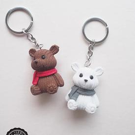 พวงกุญแจตุ๊กตาหมี ของชำร่วย ของชำร่วยงานเเต่งงาน