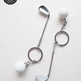 พวงกุญแจไม้กอล์ฟ ของชำร่วย ของชำร่วยงานเเต่งงาน