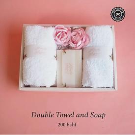 Double Towel and Soap ของรับไหว้ ของพรีเมี่ยม ของชำร่วย
