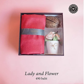 Lady and flower ของรับไหว้ ของพรีเมี่ยม ของชำร่วย