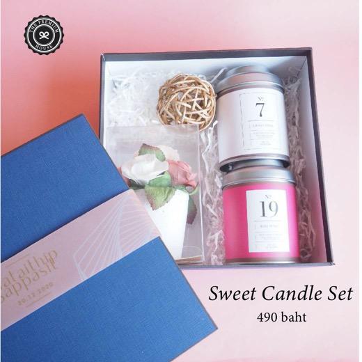 Sweet Candle Set ของรับไหว้ ของพรีเมี่ยม ของชำร่วย