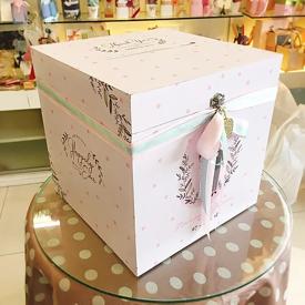 กล่องใส่ซองงานแต่งงานแบบกล่องไม้สี่เหลี่ยม