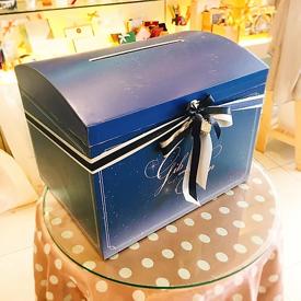 กล่องใส่ซองงานแต่งงานแบบหีบไม้
