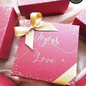 กล่องกระดาษโน้ต Joyous Love ของชำร่วย ของชำร่วยงานเเต่งงาน ของแจกปีใหม่